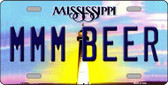 MMM Beer Mississippi Novelty Wholesale Metal License Plate