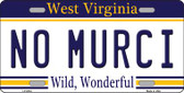 No Murci West Virginia Novelty Wholesale Metal License Plate
