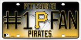 Pirates Fan Wholesale Metal Novelty License Plate