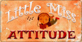 Little Miss Attitude Novelty Wholesale Metal Bicycle License Plate