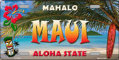 Maui Hawaii State Background Novelty Wholesale Metal License Plate