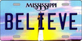 Believe Mississippi Novelty Wholesale Metal License Plate