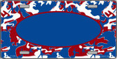 Pattern Patriotic Camouflage Pattern With Blue Center Oval Wholesale Metal Novelty License Plate