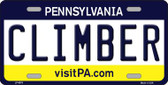 Climber Pennsylvania State Background Novelty Wholesale Metal License Plate