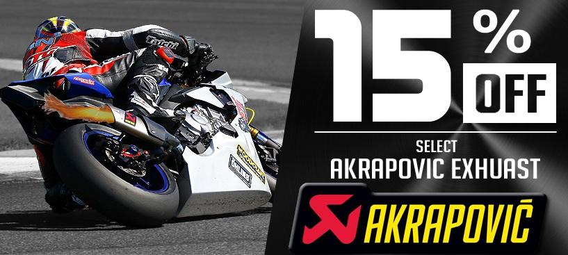 Save 15% on Akrapovic Exhaust for a Limited Time
