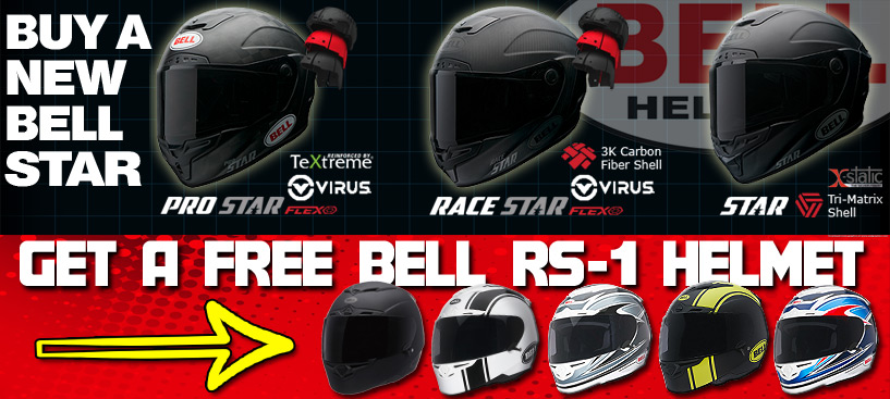Buy a New Bell Star Helmet - Get a FREE RS-1 ($400 Retail Value)