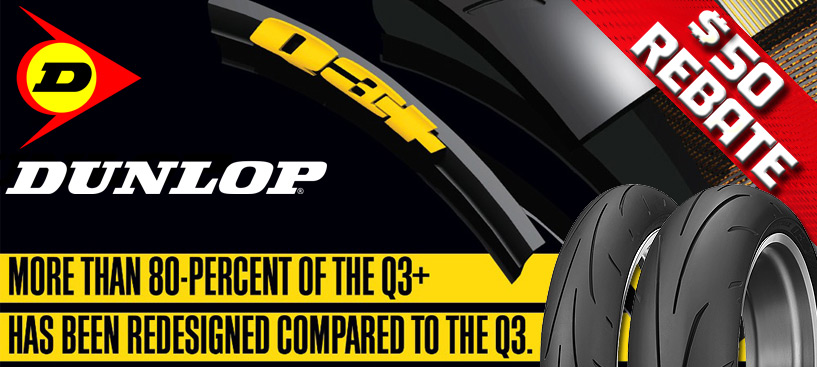 $50 Mail In Rebate on Dunlop Q3+ Tire Sets
