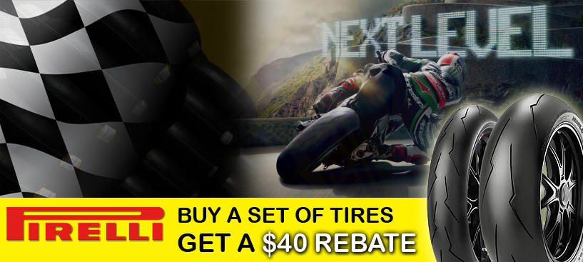 Buy a Set of Pirelli Street or Race Tires and Get a $40 Rebate from Pirelli