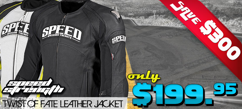Save $300 on a Great Perforated Leather Jacket from Speed and Strength