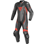 Dainese Trickster EVO C2 Perforated Leather Race Suit Black/Black/Fluorescent-Red