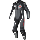 Dainese Veloster Perforated Leather Race Suit Black/Anthracite/White