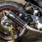 M4 Exhaust Yamaha YZF-R3 15-17 Full Exhaust System Carbon Canister