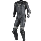 Dainese Laguna Seca D1 Two Piece Perforated Leather Race Suit Black/Black/Anthracite