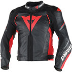 Dainese Super Speed D1 Leather Jacket Black/Red/Anthracite