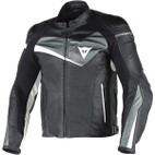Dainese Veloster Leather Jacket Black/Anthracite/White