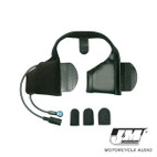 J and M Performance Series Slide-In Half Helmet Headset