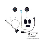 J and M Elite Hi-Speaker Custom Open Face/Flip Style Headset