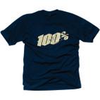 100% Black Letter Navy T-Shirt 1