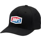100% Classic Black Flex-Fit Hat 1