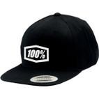 100% Corpo Black/White Snapback Hat 1