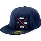 100% Eat.Sleep.Ride. Navy Hat 1