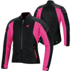 RS Taichi Women's Crew Mesh Jacket RSJ311 Black/Pink