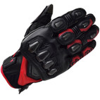 RS Taichi High Protection All Season Leather Glove RST422 Black/Red