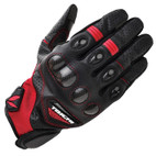 RS Taichi Velocity Leather Mesh Glove RST428 Black/Red