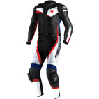 Dainese Veloster Two Piece Leather Race Suit White/Black/Sky Blue
