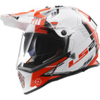 LS2 Pioneer Trigger Full Face Motorcycle Helmet with Sunshield Red