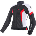Dainese Women's Air Crono Textile Jacket Black/White/Red