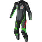 Dainese Veloster Perforated Leather Race Suit Black/Anthracite/Fluorescent Green
