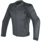 Dainese Fighter Perforated Leather Jacket Black/Black