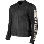 Speed and Strength Rage with the Machine Leather/Denim Jacket Black