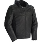 Tour Master Blacktop Leather Jacket with Hood Black