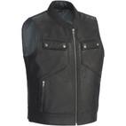 Tour Master Nomad Leather Vest Black