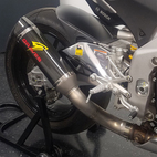 Graves Motorsports Aprilia RSV4 16-17 Carbon Cat Eliminator Exhaust System