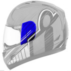 Icon Alliance Overlord Helmet Sideplate Blue