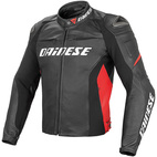Dainese Racing D1 Leather Jacket Black/Black/Red