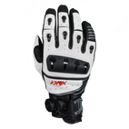 KNOX ORSA Leather Hand Armour Gloves White V14