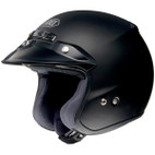 Shoei RJ Platinum-R Solid Open-Face Helmet Matte Black