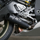 M4 Exhaust GP Slip On Yamaha YZF-R6 06-16 Black Satin Canister