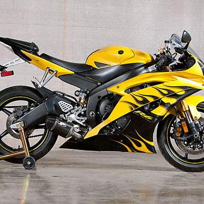 m4 yamaha r6 2006 2018 street slayer carbon slip on exhaust. Black Bedroom Furniture Sets. Home Design Ideas
