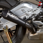 M4 BMW S1000RR 10-14 GP Mount Slip On Exhaust Black Satin Canister