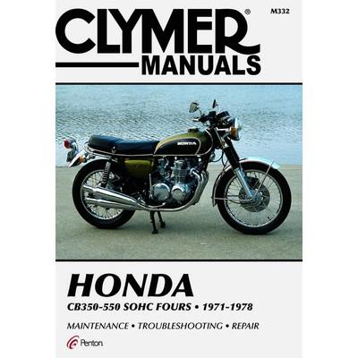 clymer honda cb350 550 sohc fours 71 78 service manual sportbike rh sportbiketrackgear com Honda 400 Super Sport Honda 400 Automatic