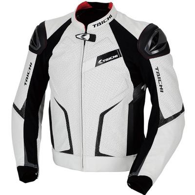 RS Taichi RSJ832 GMX Arrow Leather Jacket White/Black
