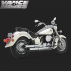 Vance & Hines Cruzer Full Exaust System Yamaha V-Star 650 98-03 1