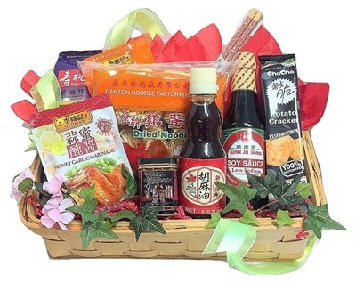 Chinese Asian gift baskets delivered in Boston Ma