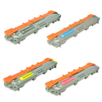 Remanufactured Brother TN225 / TN221 Toner Cartridges, High Yield, 4 Pack (TN221BK, TN225C, TN225Y, TN225M)