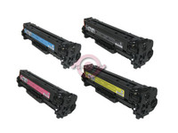 Remanufactured Canon 118 Series - Set of 4 Laser Toner Cartridges: 1 each of Black, Cyan, Yellow, Magenta